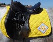 The Floral Collection All Purpose English Saddle Pad FA-63