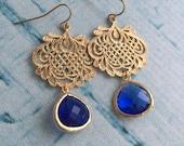Blueberry Drop Chandelier Earrings