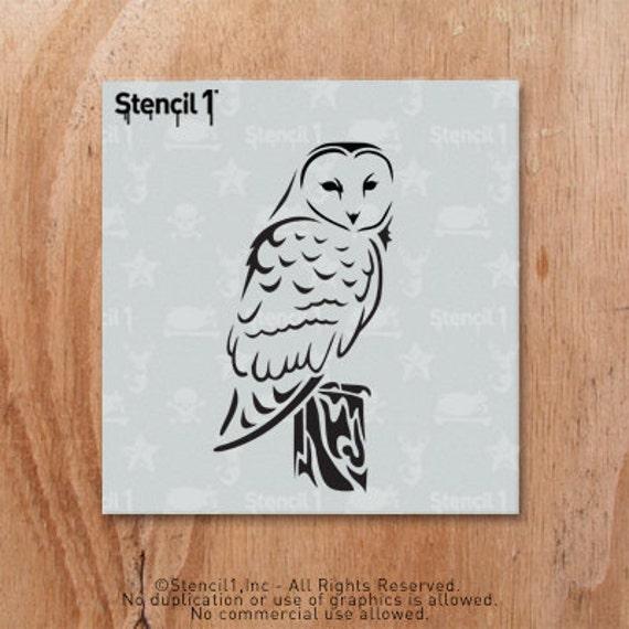 Barn Owl Stencil Reusable Craft & DIY Stencils S1_01_140_S