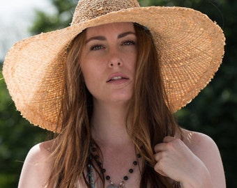 Resort Floppy Hat /Floppy Straw Sun Hat /Wide brim Straw Hat / Sun Hat / Natural Floppy Hat / Packable Hat