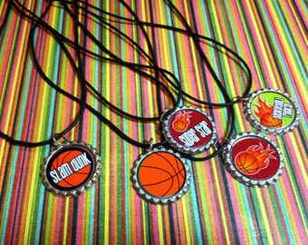 Assorted Basketball Rubber Cords Birthday Party Favor Necklaces 5pk