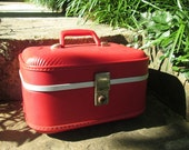 Vintage Luggage - Red Train Case