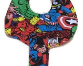 Baby Pacifier Holder Bib Super Hero Fabric