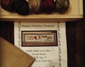 Punch Needle Pattern Kit Faith Hope Love Valdani Threads Unfinished Wood Box Weavers Cloth