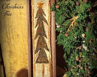 E Pattern Oh Chistmas Tree Punch Needle Wood Box