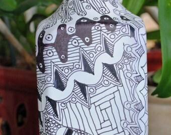Goose tangled glass bottle vase