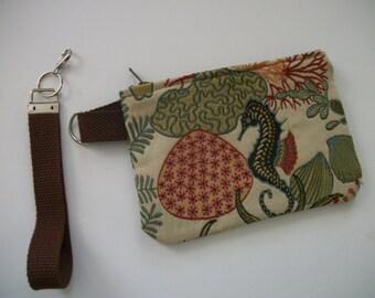 Underseas Detachable Strap Wristlet upholstery fabric