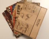 Passport Holder- Vintage Meat Cookbooks- choose 1
