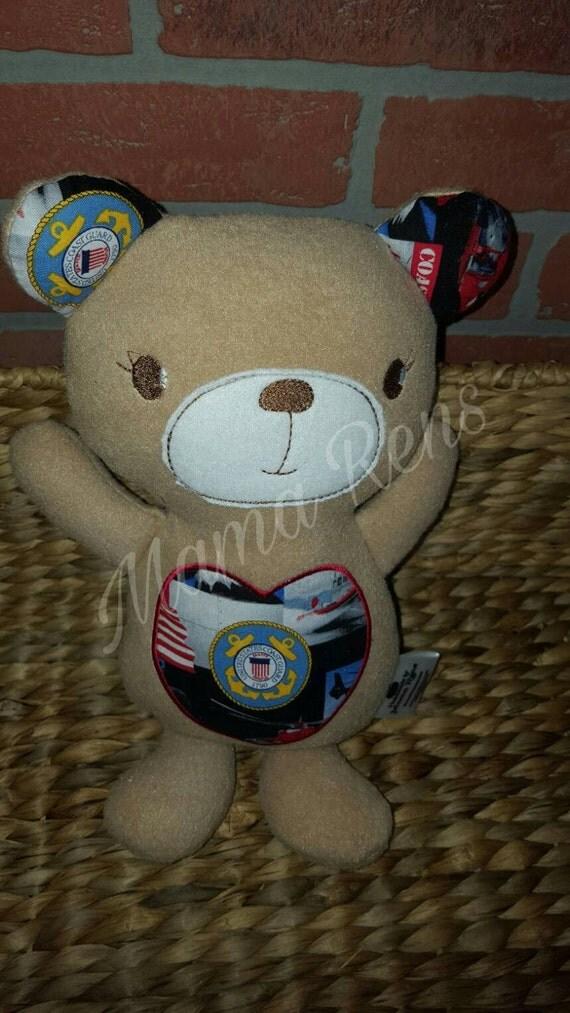 READY To SHIP Coast Guard Teddy Bear
