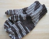MITTENS HAND KNIT Adult Wool Heath Ombre