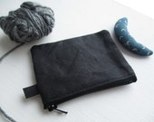 The Coin Collector a coin purse by may.tree.ark mini zipper change pouch minimalist Flea Market cash fund purse chocolate black waxed canvas