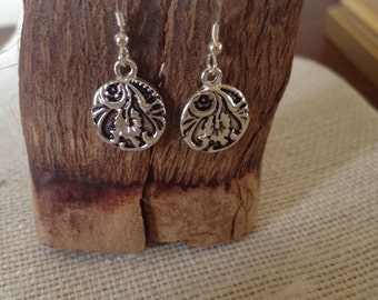 Antique Silver Coin Earrings
