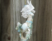 Mermaid Ornament, Seashell Mermaid, Mermaid Bling Christmas Tree Decor,Shell Mermaid, Mermaid Figurine Coastal Beach Xmas Decor