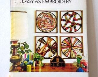 Needleweaving Book Vintage Craft Book Modernist Design Textile Arts Fiber Art Mandala DIY