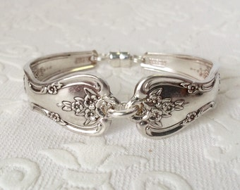 Floral spoon handle bracelet