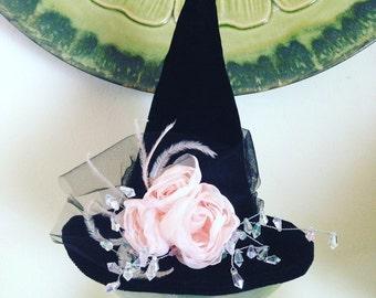 Mini Witch Hat, Top Hat, Halloween Fascinator