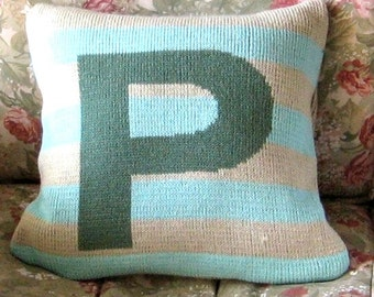 Personalized knit pillow - Initials