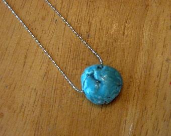 Faux Turquoise Nugget - Medium - Ceramic Pendant