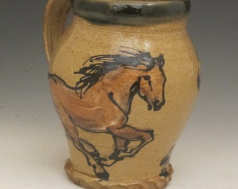 Extra Large mug with brown horses