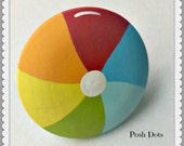 POSH KNOBS Beach Ball Hand Painted Wooden Knobs, Drawer Pull, Nursery Decor, Custom Painted to Order...Priced per Knob