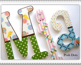 Nursery Letters, Wooden Letters, Playroom Letters, Wedding Letters, Teen Letters, Baby Gift, Decorative Letters, Painted Initials, Hanging