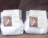 Body Powder, Natural Dusting Powder, Lavender Body Powder, Unscented Powder, One 8 ounce bag
