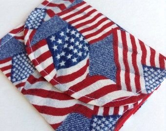 """American Flag Wallet/Cardholder 4 1/2"""" x 3 1/2"""" Free Shipping"""