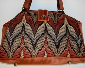 Bella Handbag/Knitting Bag/Crochet Bag/Project Bag-SEQUOIA