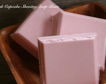 Pink Cupcake Shaving Soap with Clay, Honey and Goats Milk