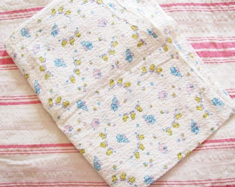 Baby Chicks on a Choo Choo...Sweet Vintage 40s-50s Novelty Children's Fabric