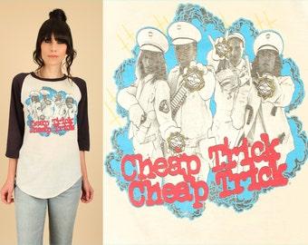 ViNtAgE 70's Cheap Trick T-Shirt THREADBARE 1970s Dream Police U.S. Tour Soft Thin Rock Concert Tee Medium M