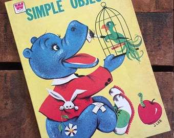 Vintage Whitman Simple Objects Coloring Book - Unused