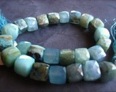 Peruvian Opal cube beads semiprecious gemstone faceted 8mm 8 inches