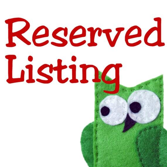 Reserved Listing for Tara