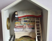 Fairytale stories - Princess and the Pea - Handmade Diorama - ooak