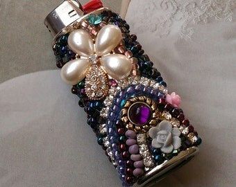 Rhinestone Bling Lighter Cover/It's OK To Be A Girl