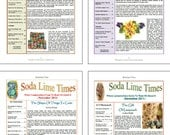 Bundle of Soda Lime Times Lampworking Magazines - Sept 2011 - Dec 2011