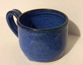 blue mug-handmade, coffee mug, tea mug, ready to ship, ceramic, pottery, stoneware, gift