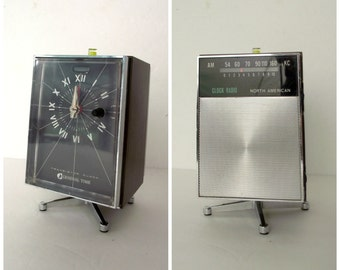 General Time Pedestal Transistor Clock Radio Combination NON WORKING Parts or Prop