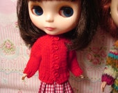 Blythe Red Sweater and Socks for Pullip and Vintage Skipper Too