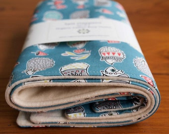 Hedgehog Baby Burp Pad Set; Woodland Baby Organic Burp Cloths; Blue Eco-Friendly New Baby Gift; New Mom, Newborn Baby Shower Gift; HEDGIES