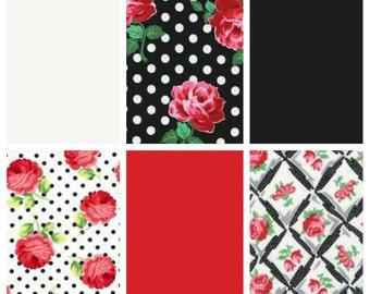 Red Rose Quilt – Baby Toddler Quilt –Car Seat/Stroller Blanket –Minky Rag Quilt –Red Black White Retro Roses Quilt– Crib Blanket