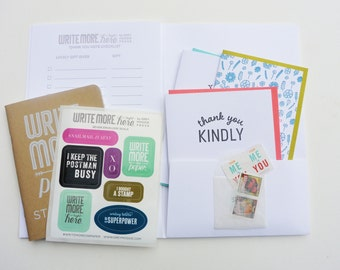 Write Here Right Now Writing Kit - Thank You Kit - Letterpress Writing Kit - WRK-413