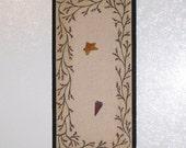 Primitive Berry Twig Vine Bulletin Board Heart Star Push Pins