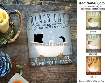 Black Cat bath soap Company artwork on gallery wrapped canvas by Stephen Fowler