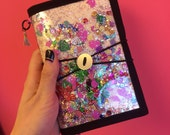 HOBONICHI, fauxbonichi cover A6 (hobonichi original size) glitter and confetti in vinyl