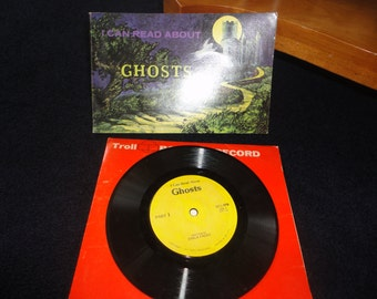 Vintage I Can Read About Ghosts Book and Record by Troll Associates 1975 Ships Free