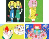 Set of Postcard  -Strawberry-