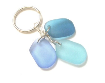 Beach, Sea Glass KEY CHAIN Sg373 Key ring, Key fob, Nautical Unisex Collectable