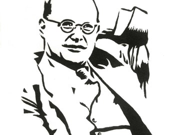 Dietrich Bonhoeffer ORIGINAL handmade LINOCUT Limited Edition print of 30
